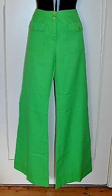 Vintage 60's Apple Green HIPSTER Flares