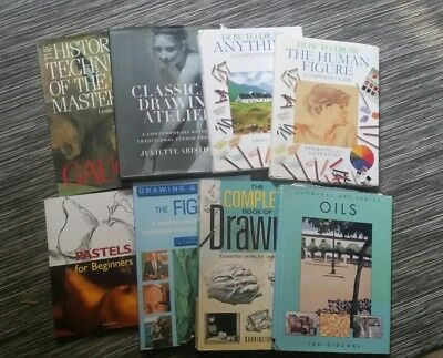 """""""How To Draw"""" Art technique Books, Lot 8 Classical Drawing Atelier Oil Pastels"""
