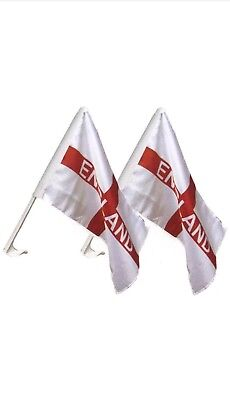 England car flags pack of two. Free delivery