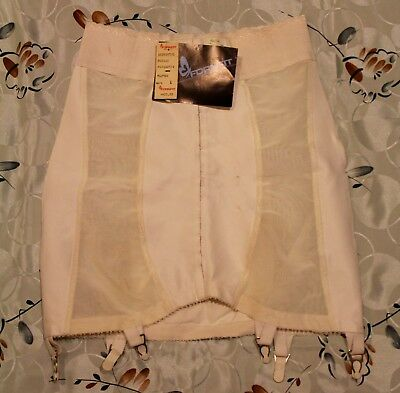 Vintage FORMFIT SKIPPIES GIRDLE w/GARTERS Ivory ~ Size L (29-30) New With Tags!