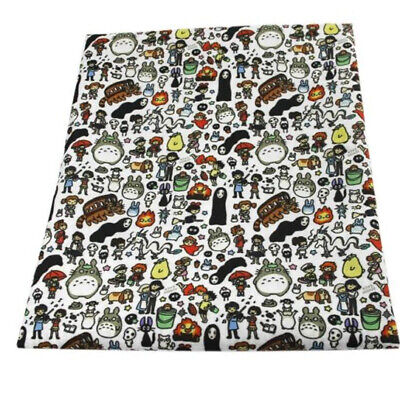Fabric Anime My Neighbour Totoro Print Polycotton Blend 50X145 Cm/20X58 In