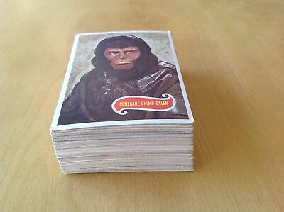 SCANLENS Planet Of The Apes 1975 FULL CARD SET 66 Cards NICE