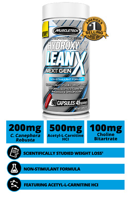 MuscleTech Hydroxycut LeanX 90 Caps Fat Burner lean oxy xtreme shred FREE POST