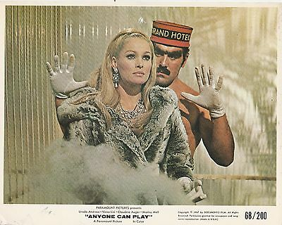 Anyone Can Play Original 1968 Paramount 8x10 U.S mini lobby card in Toploader
