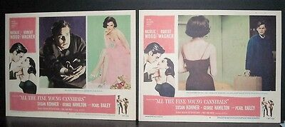 All The Fine Young Cannibals 1960 2 11x14 Original U.S lobby cards in Toploaders