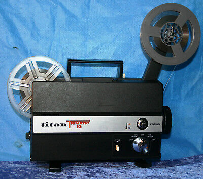TITAN TRIMATIC IQ DUAL 8mm SILENT MOVIE PROJECTOR 100w SERVICED PROJECTOR HEAVEN