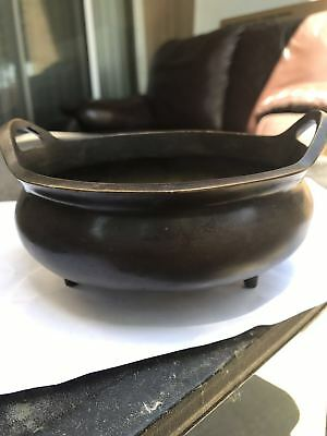 Chinese Antique Copper Incense Burner with Xuande Mark
