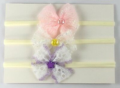 Baby Girl Headbands Set Of 3 Handmade In Australia Baby Shower Gift