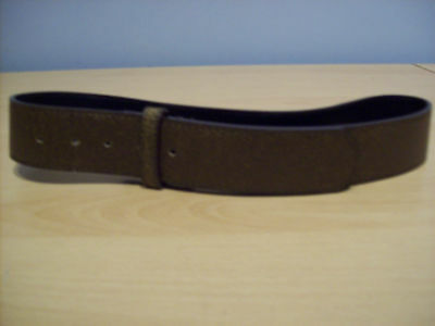 Belt Boys Brown Synthetic Leather Look Belt Without Buckle New