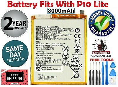 New replacement Battery Fits For HUAWEI P10 lite HB366481ECW 3000mAh US Seller