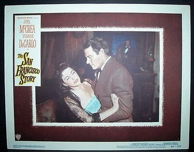The San Francisco Story 1952 11x14 Original U.S lobby card 2 in Toploader