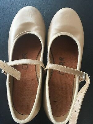 Bloch Tap Shoes Tan Leather Girls Size 13 Made in Australia