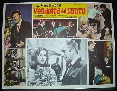 "Vendetta for the Saint "" Roger Moore "" 1969 Original Mexican lobby card"