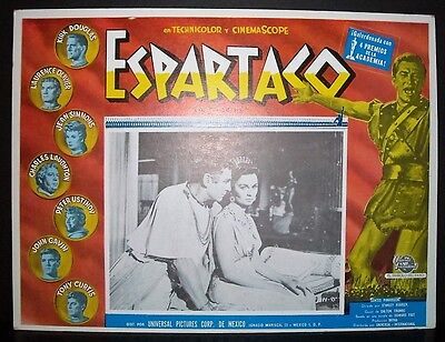 "Spartacus "" Stanley Kubrick "" 1961 Original Mexican lobby card"