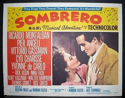 Sombrero 1953 11x14 Original U.S lobby card 7 from M.G.M in Toploader