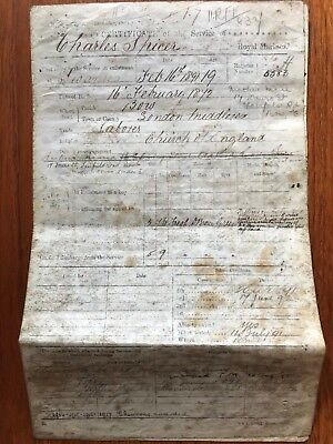 Royal Marine Parchment Certificate of Service - Charles Spicer 1891 -  ref102