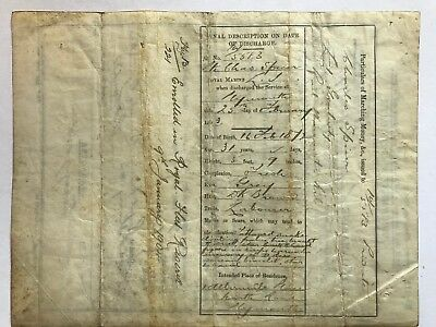 Royal Marine Parchment Certificate - Charles Spicer 1903 Discharge -  ref102