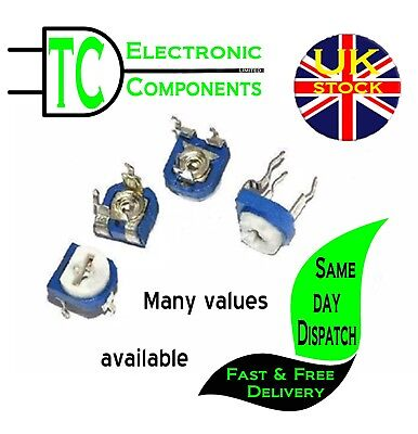 Trimming Potentiometer RM-065 -5 Pack- 100ohm - 1Mohm  **UK Seller** Free P&P