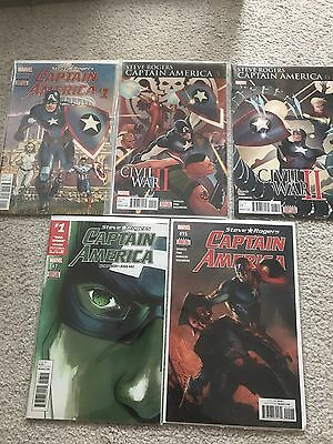 Captain America: Steve Rodgers #1, 5, 6, 7 And 15. First Prints