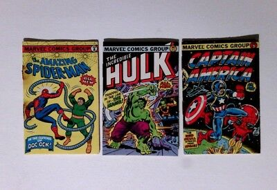 1981 Marvel Comics Mini Comic Books - Bubble Funnies - Lot of 3 See Pictures