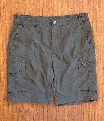 Columbia Size 30 Cargo Shorts Polyester Green Mens Sportswear Outdoor Hiking