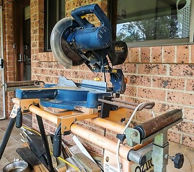 """GMC 250mm (10"""") 2150W Compound Sliding Mitre Saw with Laser ~ Ozito stand"""