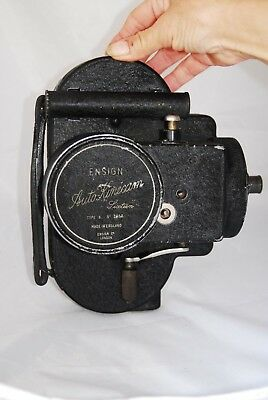 Vintage Ensign Auto Kinecam 1930s 16mm Movie Camera 'Sixteen' with Case