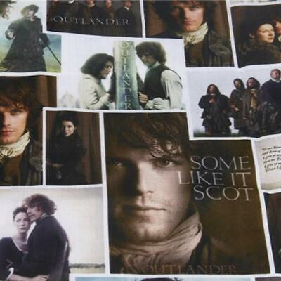 Fabric Outlander Tv Show Print Polycotton Blend 50X145Cm/20X58 In