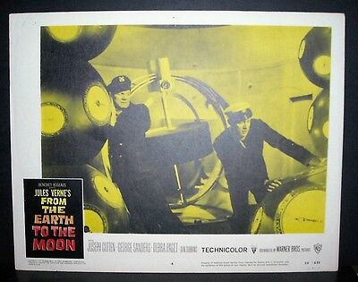 From the Earth to the Moon  1958 11x14 Original U.S lobby card #4 in Toploader