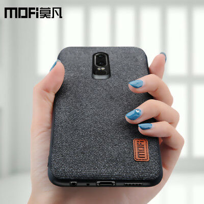 OnePlus 6 Stylish Case Fabric hard protective business Cloth Phone One + Cover