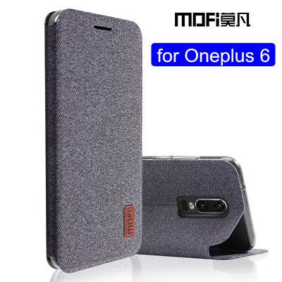 OnePlus 6 Fabric Flip Cover Case Protect Gift 1+ one+ Stylish Stand Cloth Phone