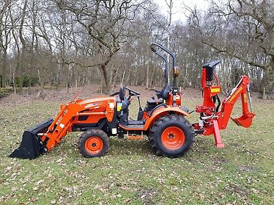 KIOTI CK2810 HST Hydro static Compact Tractor & Front Loader & Backhoe  Digger