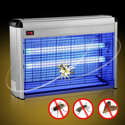 30W ELECTRIC FLY KILLER GRID KILLING ZAP BUG ZAPPER INSECT FLYING HOME UV 2x15W