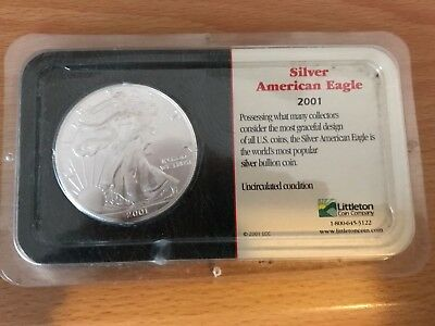 American eagle silver coin 2001 1 OZ .9999 Silver in plastic CASE