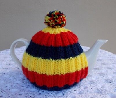 """Hand Knitted - Adelaide Crows Colours """"tea Cosy"""" (Cosie)"""