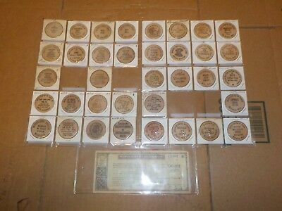 36 Wooden Nickel from michigan  1 montgomery wards refund check