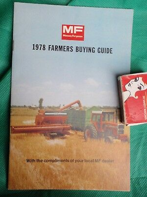 Massey Ferguson 1978  farmers Buying Guide - Colour  43 page Booklet
