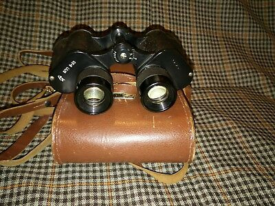 Vintage Buhoknb 8 x 30 Binoculars In Case Made In USSR - Russian 1970 Military