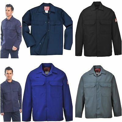 Portwest Flame Fire Retardant Heat Resistant Jacket Welding Welders Work Coat