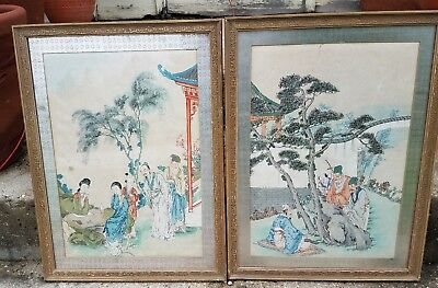 Vintage Antique Watercolor Asian-Japanese