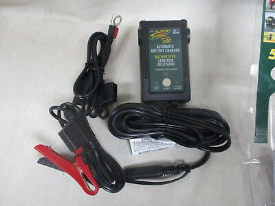 Battery Tender Jr. Selectable Lithium Battery Charger for maintenance free, AGM