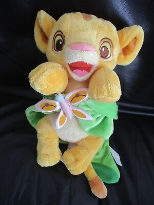 THE LION KING - Simba in a blanket plush soft toy VGC Disney babies