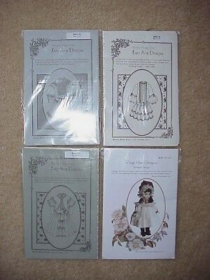 """LOT Patterns for Antique Dolls 13"""" to 14""""  - new in package"""
