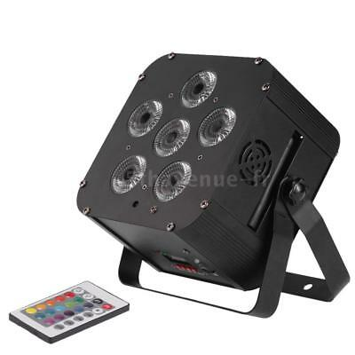 108W LED RGBWAP 6/10 Canal PAR Lumière Build-in Wireless DMX Receiver U8D7