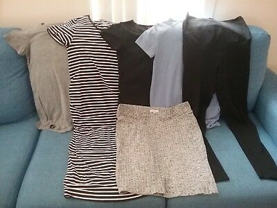 Maternity clothing bundle size 8 and 10 dress, skirt, tops