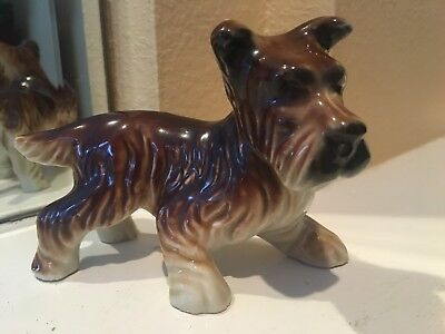 Vintage Japan Porcelain/Ceramic Fox Terrier Dog Figurine Figure