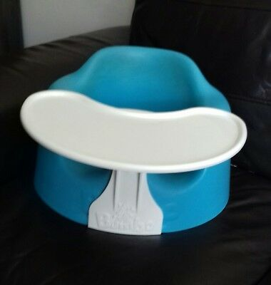 Bumbo baby / toddler seat with tray in blue