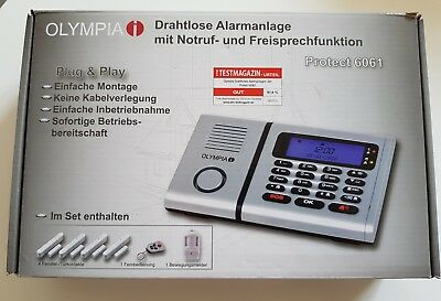 Olympia Alarmanlage Protect 6061 drahtlos Notruf LCD | 5940