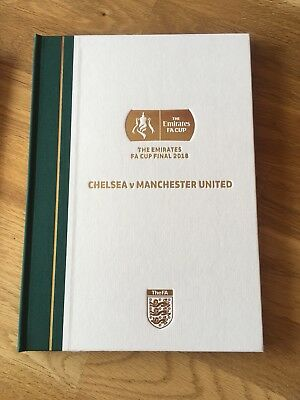 Man United Vs Chelsea - Fa Cup Final 2018 Limited Edition Hardback Programme