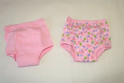 Lot Of 2 Pair Green Sprouts Toddler Girl's Printed Training Panties - 4T